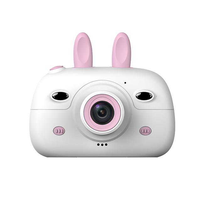 HD 화면 충전식 디지털 미니 카메라 아이 만화 귀여운 카메라 장난감 야외 사진 소품 아이 생일 선물
