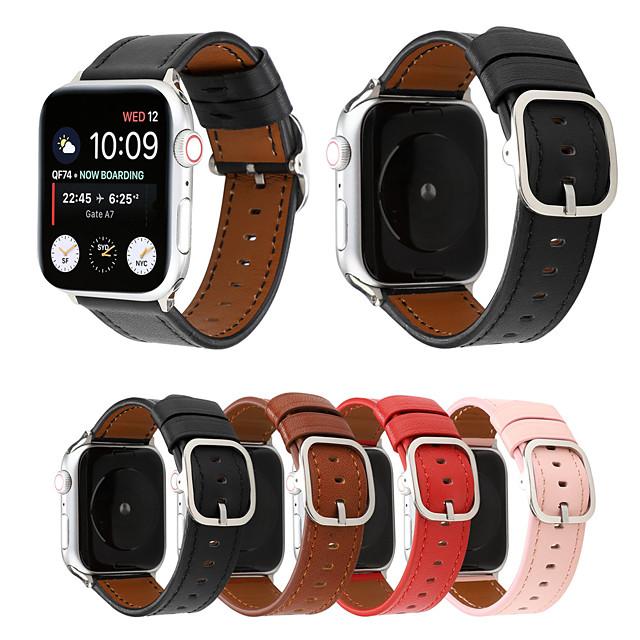 ремешок из натуральной кожи для apple watch band 44mm / 40mm / 42mm / 38mm современный стиль браслет браслет аксессуары для серии iwatch 4/3/2/1
