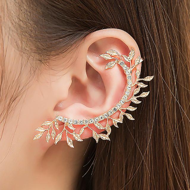 LC/_ WOMEN KOREAN STYLE ELEGANT FLOWER RHINESTONE EAR STUDS EARRINGS JEWELRY GN