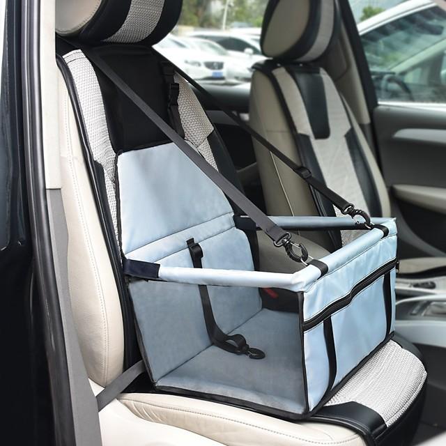 Gatto Cane Pet Booster Seat Ompermeabile Portatile Traspirante Tinta unita Tessuto Nero Rosso Rosa / Ripiegabile
