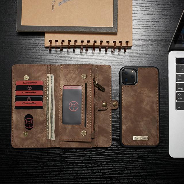 telefon Pouzdro Uyumluluk Apple Tam Kaplama Kılıf Deri çanta Cüzdan Kartı Kılıfı iPhone 12 Pro Max 11 SE 2020 X XR XS Max 8 7 6 Cüzdan Kart Tutucu Şoka Dayanıklı Solid PU Deri