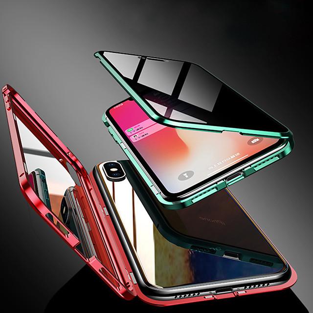 전화 케이스 제품 Apple 전체 바디 케이스 자기 흡착 케이스 iPhone 12 Pro Max 11 SE 2020 X XR XS Max 8 7 6 투명 마그네틱 양면 한 색상 강화 유리