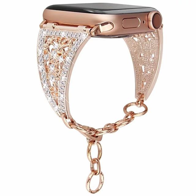 bracelet en acier inoxydable pour femme montre bracelet en acier inoxydable bracelet 4/3/2/1 pour iwatch 38mm / 42mm / 40mm / 44mm bracelet