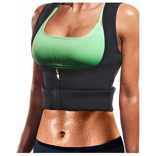 Sweat Gilet Gilet d'Entraînement de Taille Débardeur en néoprène 1 pcs Des sports Néoprène Yoga Exercice & Fitness Entraînement de gym fermeture Éclair Compression Extensible Perte de poids Fat Tummy