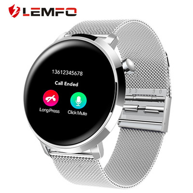 Men's Smartwatch Digital Stylish Stainless Steel Black / Silver 30 m Heart Rate Monitor Bluetooth Smart Analog Fashion - Black Silver One Year Battery Life
