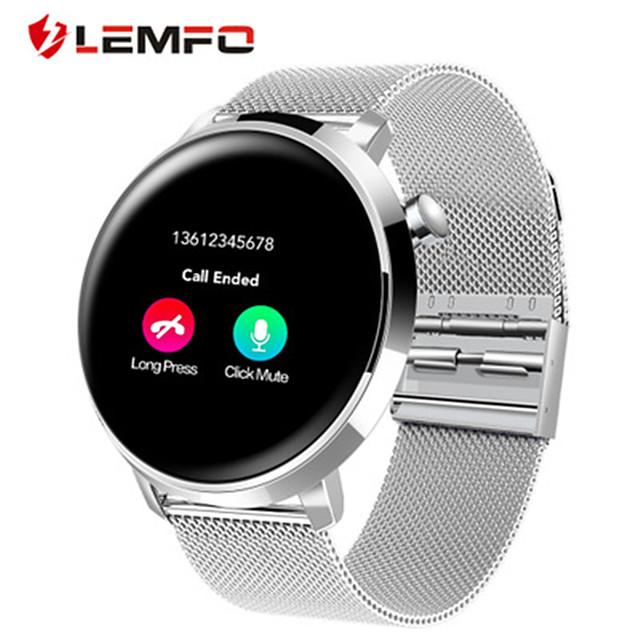Erkek Akıllı İzle Dijital Şık Paslanmaz Çelik Siyah / Gümüş 30 m Kalp Ritmi Monitörü Bluetooth Smart Analog Moda - Siyah Gümüş Bir yıl Pil Ömrü