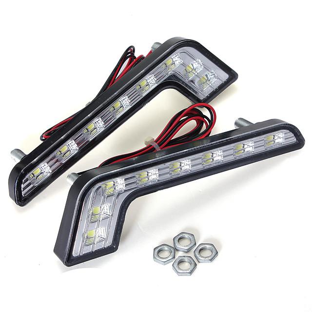 1 개 L 모양 5 와트 LED drl 낮 실행 조명 안개 램프 화이트 벤츠 c e