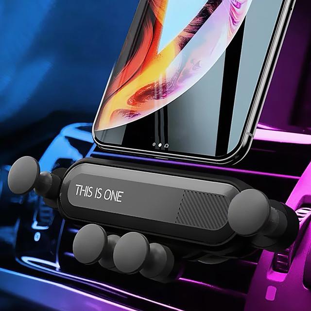 Suportes para Celular Carro Grade de saída de ar Tipo de Gravidade Ajustável ABS Acessório para Celular iPhone 12 11 Pro Xs Xs Max Xr X 8 Samsung Glaxy S21 S20 Note20
