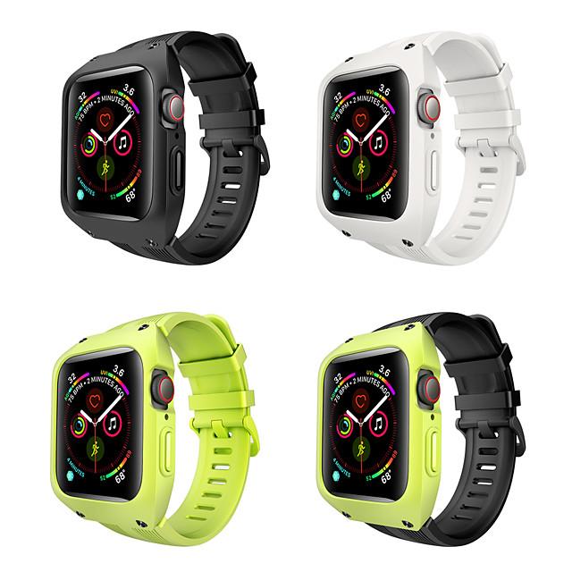 Silikon kayış ile apple watch band serisi 4 için 44mm yeni tasarım bileklik için iwatch bilezik kemer