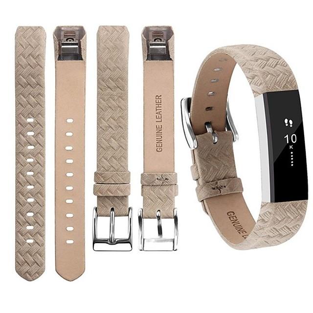 حزام إلى Fitbit Alta فيتبيت عصابة الرياضة جلد طبيعي شريط المعصم