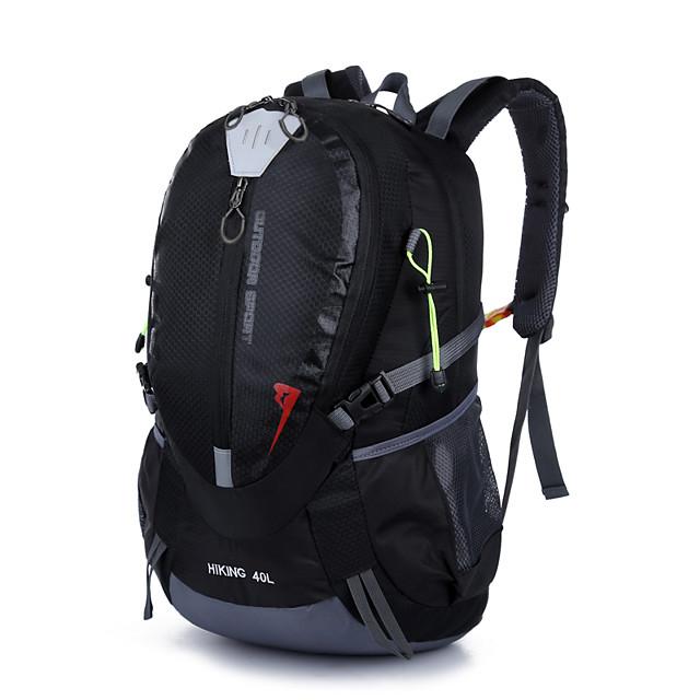 40 L Rucsaci Curele respiratorii - Portabil Rezistent la Praf Anti-rupere Rezistenta la uzura În aer liber Camping & Drumeții Pescuit Alpinism Nailon Negru Rosu Portocaliu / Da