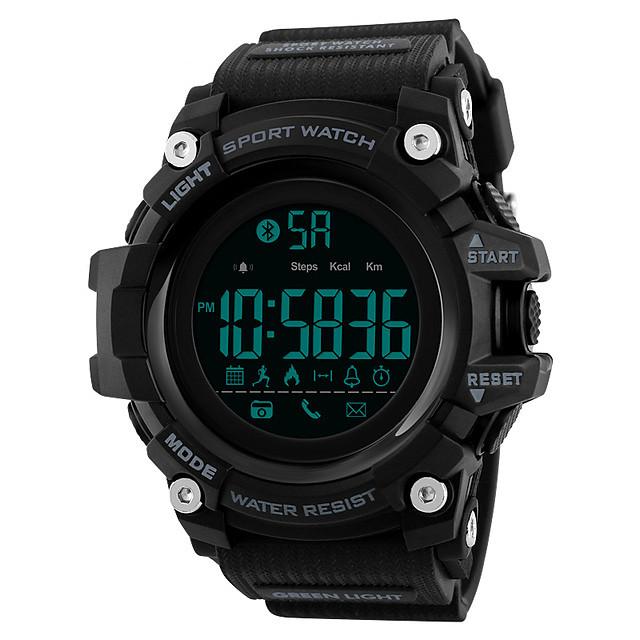 رجالي ساعة رياضية ساعة رقمية رقمي كاجوال مقاوم للماء رقمي أسود أحمر أزرق / سيليكون / رزنامه / الكرونوغراف