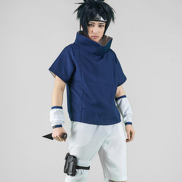 Inspirat de Naruto Uchiha Sarada Anime Costume Cosplay Japoneză Costume Cosplay Topuri Cosplay / Bottoms Vârf Pantaloni Mâneci Pentru Bărbați