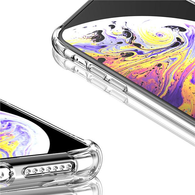 جراب شفاف لهاتف Apple iphone 11 / iphone 11 pro / iphone 11 pro max جراب واقٍ بسيط مقاوم للصدمات للهاتف المحمول غطاء خلفي مقاوم للغبار لون نقي رخيص صلب لا لون حافظة tpu