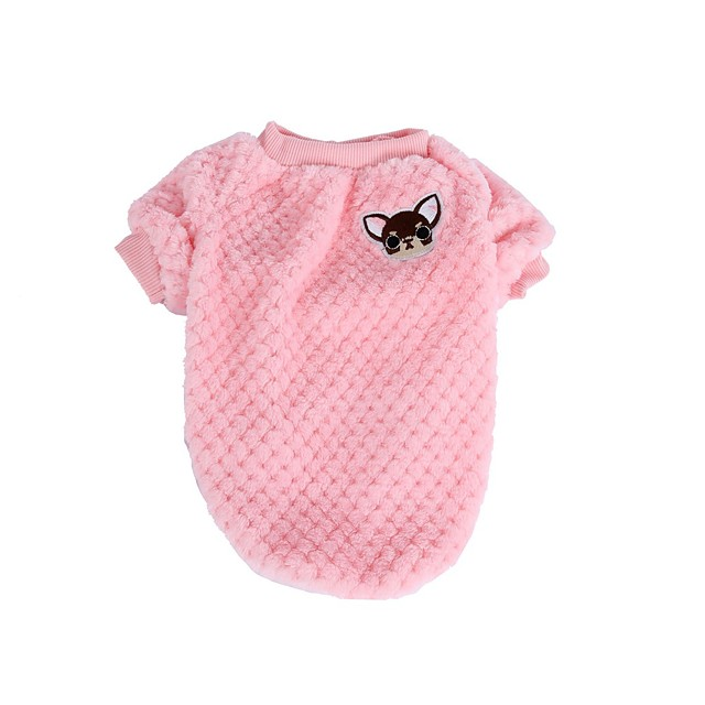 Kat Hund T-shirt Hvalpe tøj Bogstav & Nummer Afslappet / Hverdag Hundetøj Hvalpe tøj Hund outfits Lilla Blå Lys pink Kostume til Girl and Boy Dog Bomuld XS S M L