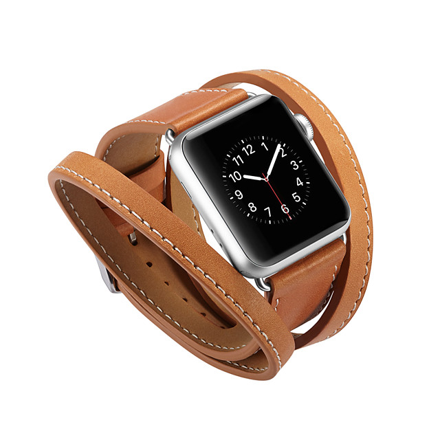 Uhrenarmband für Apple Watch Serie 5/4/3/2/1 Apple Sportband Echtlederarmband