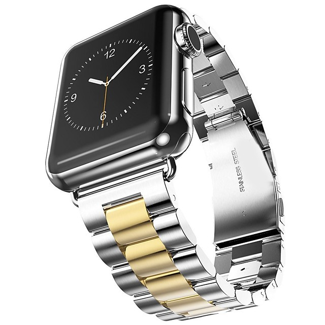 bracelet de montre pour apple watch series 5/4/3/2/1 apple design bijoux bracelet en acier inoxydable
