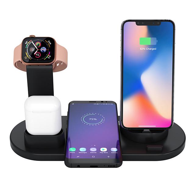 Беспроводное зарядное устройство 3 в 1 Apple Airpods зарядное устройство Apple Watch Stand для нескольких беспроводных зарядных устройств, совместимых с iphone 11 pro max / x / xr / xs max / 8/7/6 / s