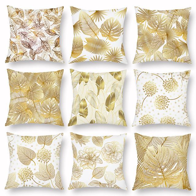 1 pcs 벨벳 베개 커버, 플로럴 플로럴&식물 클래식 목가적 인 광장 전통적인 클래식
