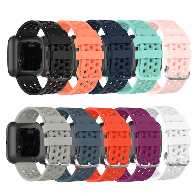 correa de reloj para fitbit versa / fitbi versa lite / fitbit versa 2 correa deportiva de silicona fitbit sport band