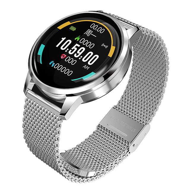 Relógio inteligente Digital Estilo Moderno Esportivo 30 m Impermeável Monitor de Batimento Cardíaco Bluetooth Digital Casual Ao ar Livre - Preto Prateado