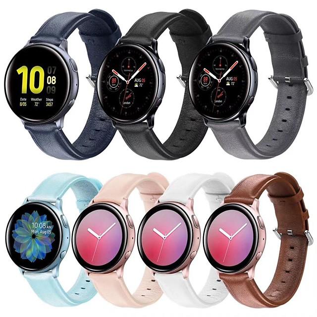 Cinturino intelligente per Samsung Galaxy 1 pcs Banda di affari Vera pelle Sostituzione Custodia con cinturino a strappo per Samsung Galaxy Watch Active 2
