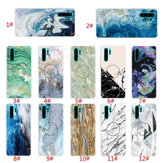 Custodia Per Huawei Huawei P20 lite / Huawei P30 / Huawei P30 Pro Con supporto / Fantasia / disegno Per retro Effetto marmo TPU
