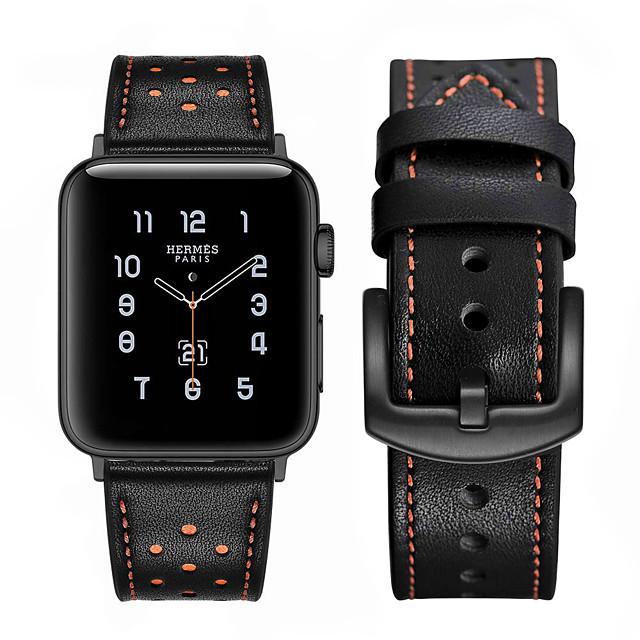 correa de reloj para apple watch series 5 4 3 2 1 bucle de cuero de manzana correa de muñeca de cuero genuino