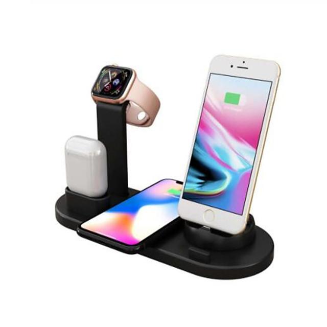 10 Вт быстрое беспроводное зарядное устройство на 360 градусов вращающийся рабочий стол iphone micro usb type-c тройное зарядное устройство для airpods iphone samsung huawei xiaomi и другие