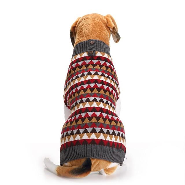 Honden Katten Truien Geruit Brits Winter Hondenkleding Puppy kleding Hondenoutfits Rood Kostuum voor Girl and Boy Dog Polyesteri XXS XS S M L XL