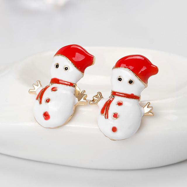نسائي للفتيات أقراط الزر أقراط كريستال هندسي ثمين موضة مطلية بالذهب الأقراط مجوهرات أبيض من أجل عيد الميلاد الهالووين حفلة / سهرة هدية مهرجان 1 زوج