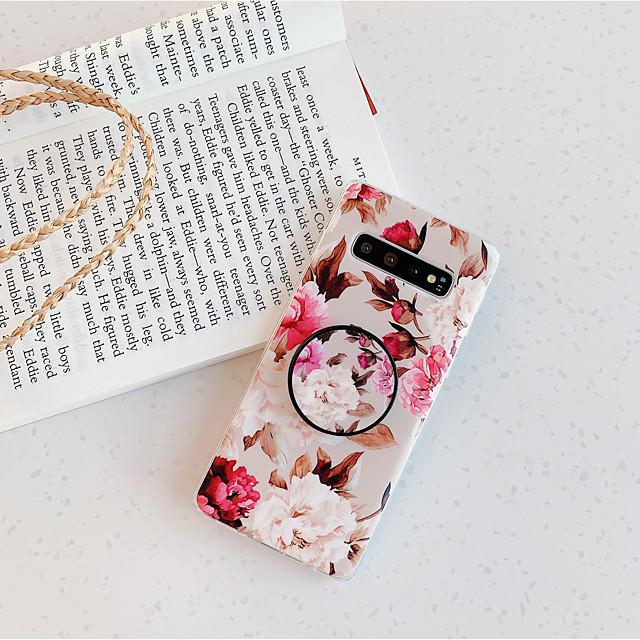 전화 케이스 제품 삼성 갤럭시 뒷면 커버 Galaxy S9 S9 플러스 S8 플러스 S8 S10 S10 + Galaxy S10 E 스탠드 IMD 반투명 꽃패턴 TPU