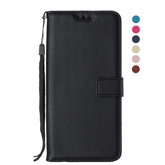 Кейс для Назначение SSamsung Galaxy S9 / S9 Plus / S8 Plus Кошелек / Бумажник для карт / Флип Чехол Однотонный Кожа PU / ТПУ