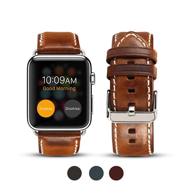 Ремешок для часов для Apple Watch Series 4 / Apple Watch Series 4/3/2/1 / Apple Watch Series 3 Apple Бизнес группа Натуральная кожа Повязка на запястье