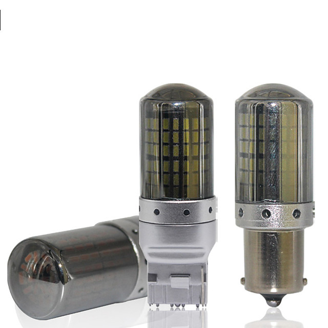 2PCS canbus T20 LED 7440 W21W 1156 P21W LED BA15S PY21W BAU15S 144smd car led Bulbs lamp For Turn Signal Light brake light No error