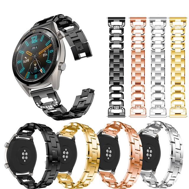 ремешок для часов ремешок из нержавеющей стали с бриллиантами для часов Huawei Gt Active / GT 2 46 мм / часы 2 Pro / честь волшебный сменный браслет браслет