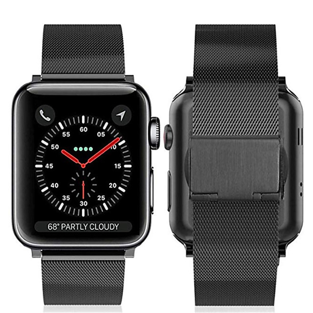 Apple Watch Series 5/4/3/2/1 용 시계 밴드 Apple Milanes 루프 스테인리스 손목 스트랩