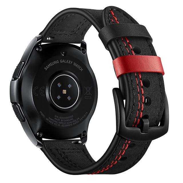 20 / 22mm pravá kůže, 7 slovních řemínků, řemínek pro hodinky Samsung Galaxy 42/46 mm