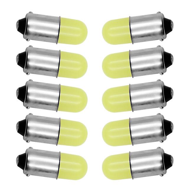 10pcs ba9s t4w 363 1895 233 super lumineux rond 3d épi conduit pur blanc plaque d'immatriculation de voiture ampoule auto lampe marqueur lumière dc 12v