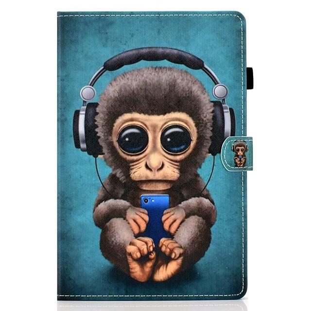 téléphone Coque Pour Apple Coque Intégrale iPad Air iPad 4/3/2 iPad (2018) iPad New Air (2019) iPad 10.2''(2019) iPad Pro 10.5 iPad Air 2 iPad (2017) Porte Carte Avec Support Motif Animal faux cuir