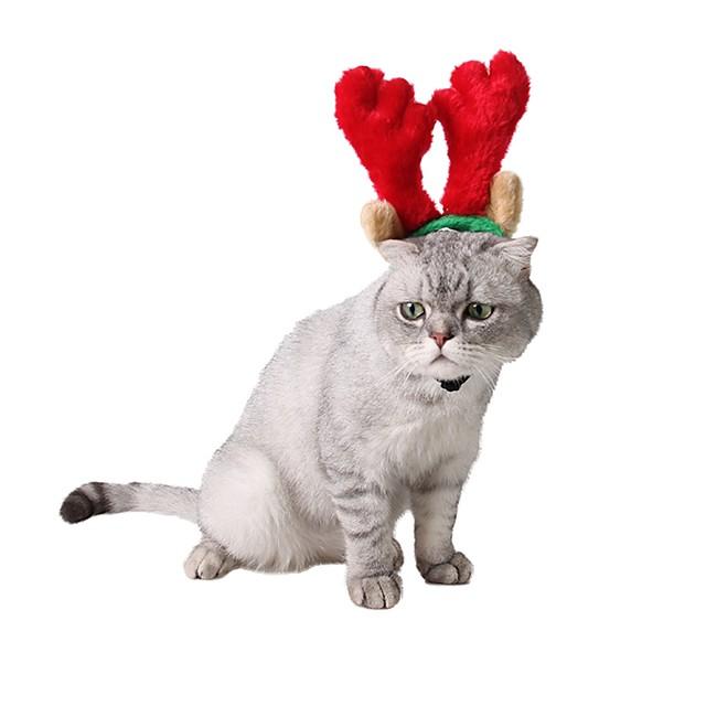 애완견 용품 헤어악세사리 강아지 옷 크리스마스 순록 헤드 피스 크리스마스 겨울 강아지 의류 강아지 옷 개 의상 레드 코스츔 소녀와 소년 개 코르덴 S L