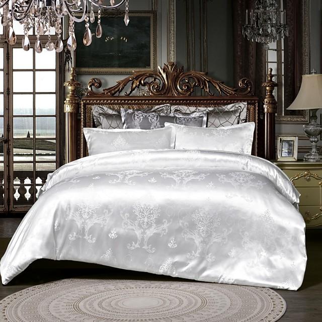 حار بيع المنزل مجموعة مفروشات الجاكار حاف الغطاء تعيين 3 قطع bedluxurious أغطية الملكة الملك الحجم سرير مجموعات الأبيض دون ملاءات