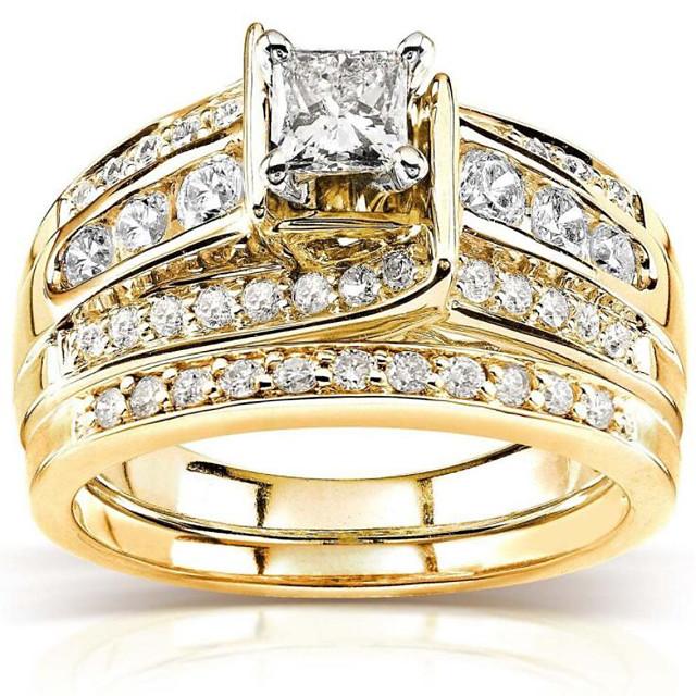 נשים טבעת זירקונה מעוקבת גיאומטרי זהב ציפוי זהב כוכב אופנתי 3pcs 5 6 7 8 9 / בגדי ריקוד נשים