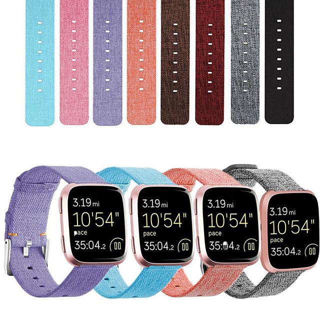 스마트 시계 밴드 용 핏빗 1 pcs 스포츠 밴드 클래식 버클 나일론 바꿔 놓음 손목 스트랩 용 Fitbit Versa Fitbi Versa Lite Fitbit Versa 2