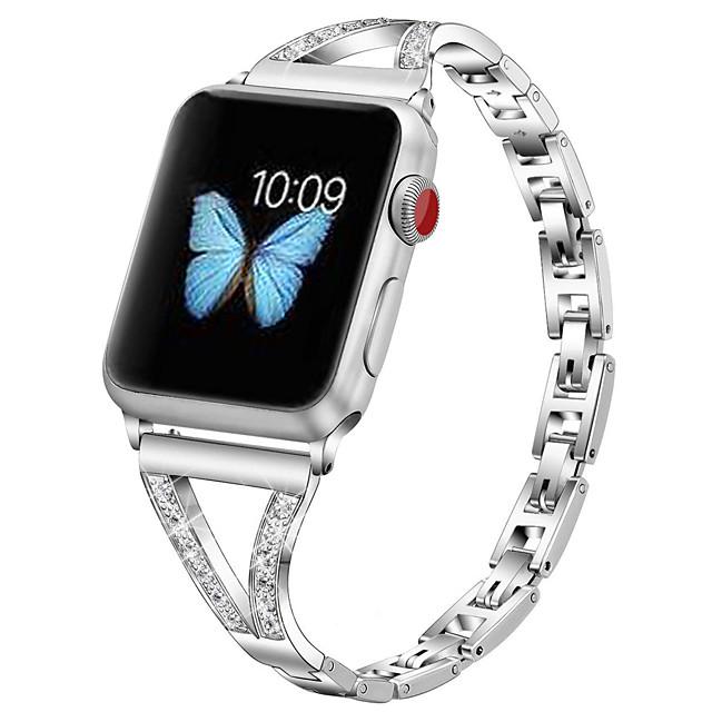 Cinturino intelligente per Apple  iWatch 1 pcs Stile dei gioielli Acciaio inossidabile Sostituzione Custodia con cinturino a strappo per Apple Watch Serie SE / 6/5/4/3/2/1 38 millimetri 40 mm 42