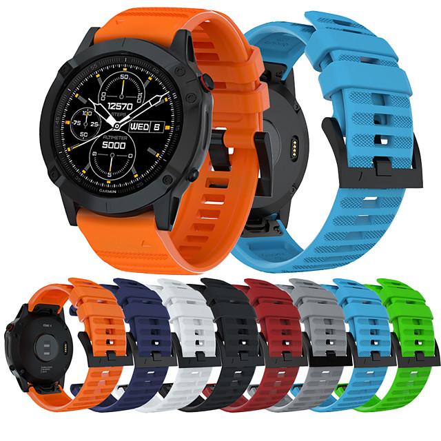 smartwatch band til garmin fenix 6 / 6pro / 5 / 5plus / forerunner 945/935 / s60 sport band blød behagelig silikone quickfit håndledsrem 22mm