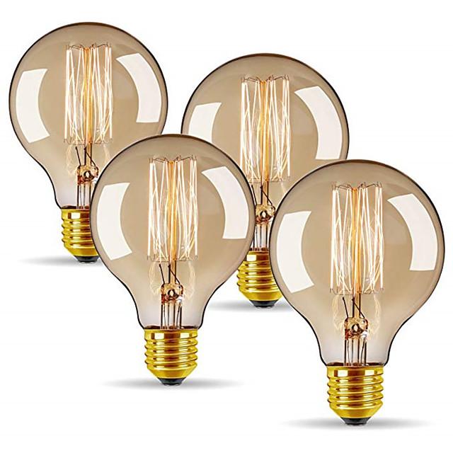 4 pièces 40 W E26 / E27 G80 Blanc Chaud 2300 k Rétro / Intensité Réglable / Décorative Ampoule à incandescence Vintage Edison 220-240 V