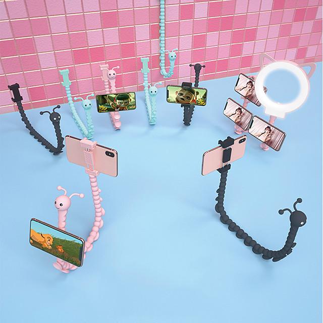 kreativ larve blekksprut lat mobiltelefon brakett spirer andre generasjon live brakett bil motorsykkel elbil stasjonær nattbord skyting multifunksjonsstøtte mobiltelefon stativ