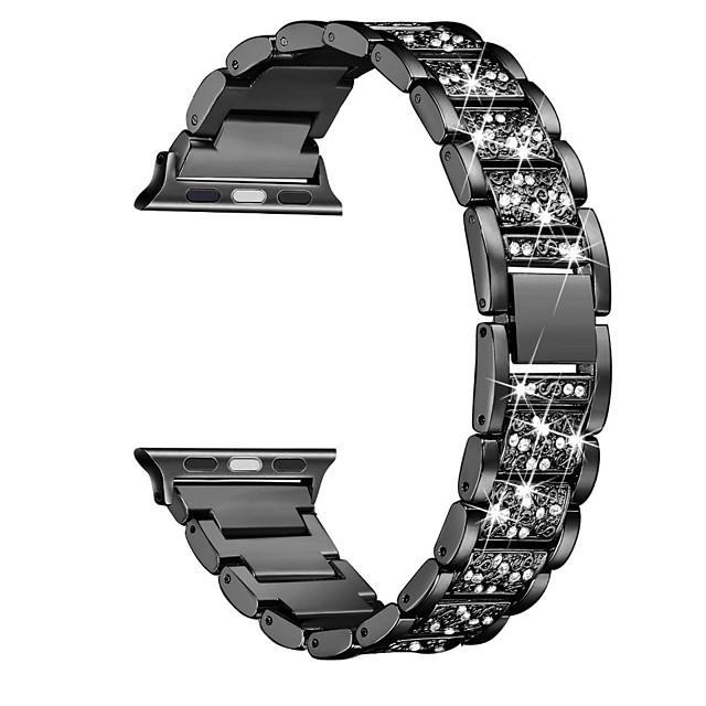 시계 밴드 용 Apple Watch Series 6 / SE / 5/4 44mm / Apple Watch Series 6 / SE / 5/4 40mm Apple 쥬얼리 디자인 스테인레스 스틸 손목 스트랩