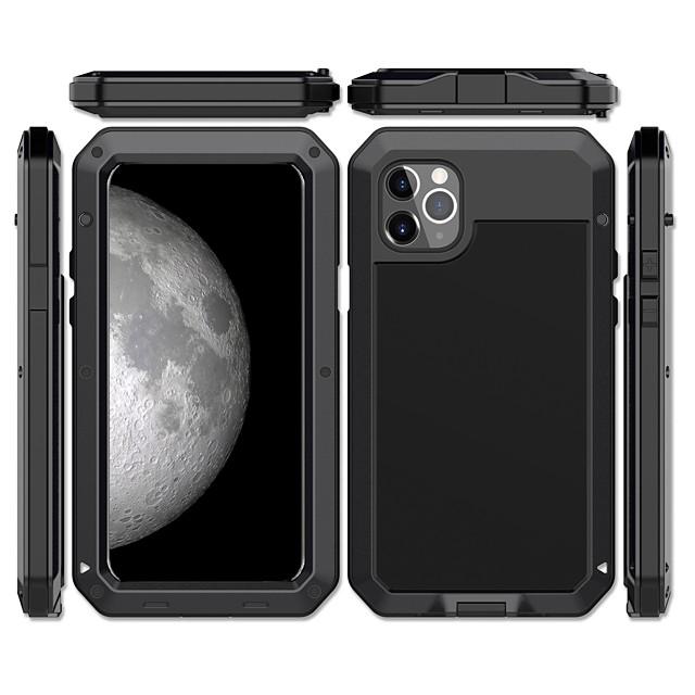 Pouzdro Uyumluluk Apple iPhone 11 / iPhone 11 Pro / iPhone 11 Pro Max Şoka Dayanıklı / Toz Geçirmez / Su Resisdansı Arka Kapak Zırh Metal / Alüminyum